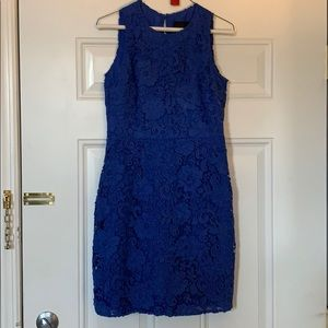 J Crew blue lace dress